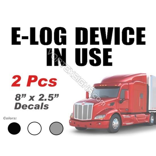 ELD E log Device In Use sticker