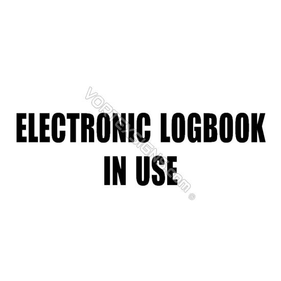 ELD Electronic LogBook In Use sticker