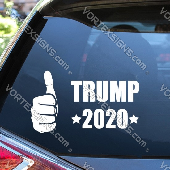 vote Trump 2020 for president sticker