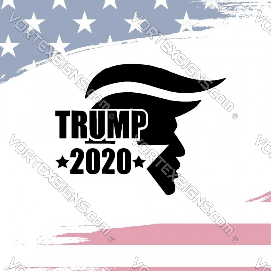 vote Trump 2020 for president sticker