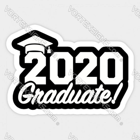 Class of 2020 home window decal / cling sticker