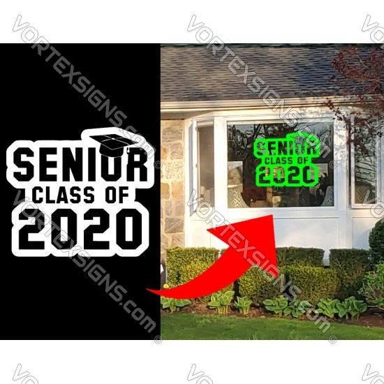 Class of 2021 home window decal / cling sticker