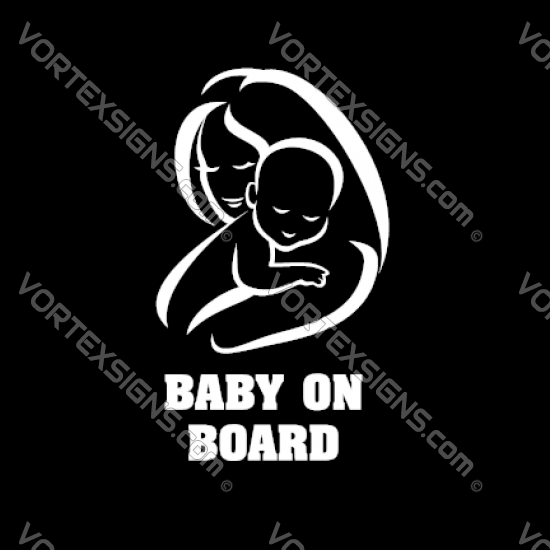Baby On board pacifier sticker