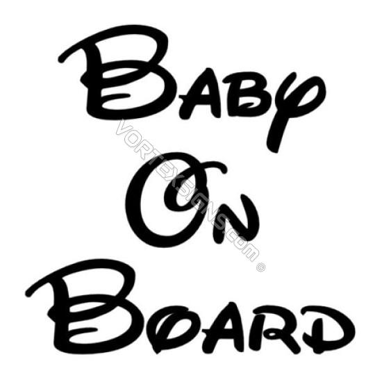 Disney Baby on Board sticker