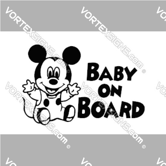 Baby On board Micky Mouse sticker