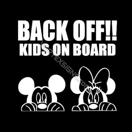 Back Off Kids on Board sticker