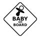 Baby On board pacifier sticker