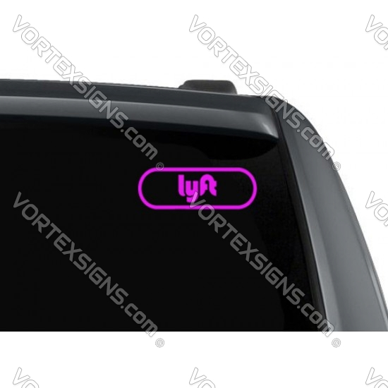 LYFT decal - round outline sticker