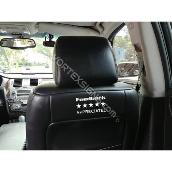 Feedback Appreciated sticker dashboard seat