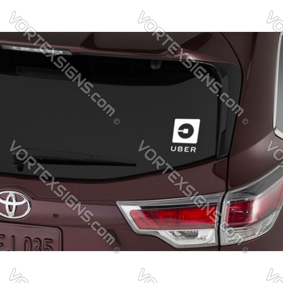 UBER Round Logo sticker for back window