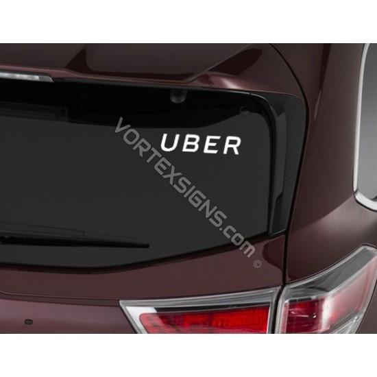 UBER Logo sticker text