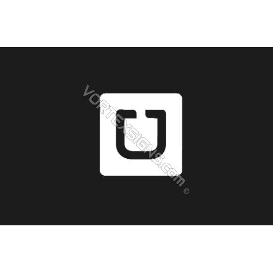 UBER Square sticker for car windows