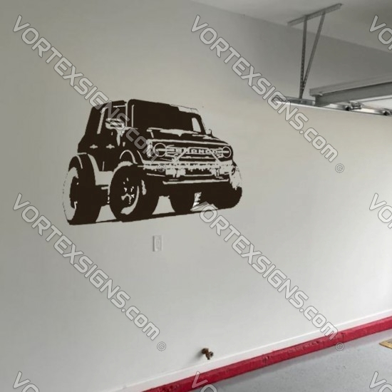 Ford Bronco Wall decal sticker for your garage or room - v1 sticker
