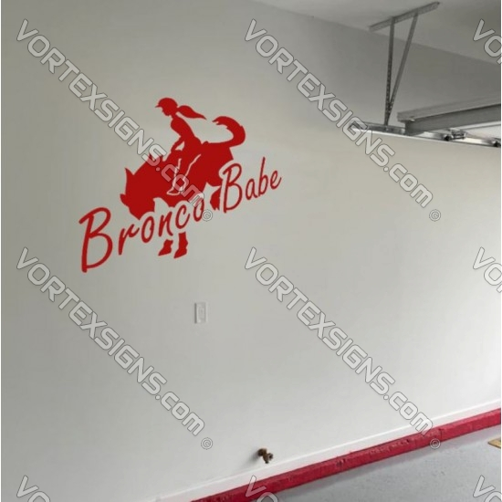 Ford Bronco babe Wall decal sticker for your garage or room - v1 sticker