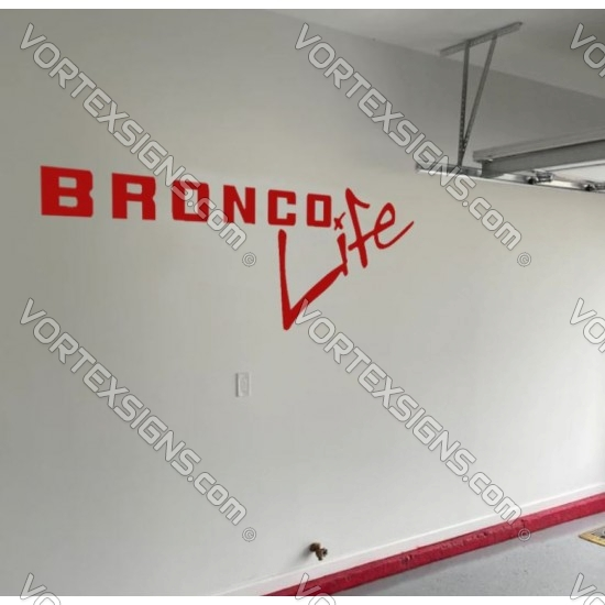 Ford Bronco live Wall decal sticker for your garage or room  sticker
