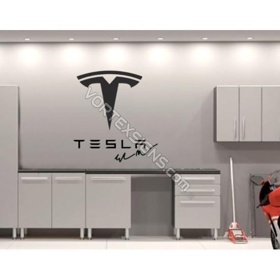 TESLA logo Garage Wall decal sign sticker